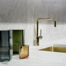 पीतल/गोल्ड रसोई नल - Nivito 1-RH-360