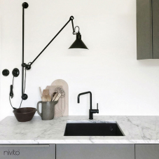 Black Kitchen Mixer Tap - Nivito 16-RH-320