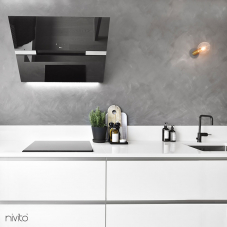 Black Kitchen Mixer Tap - Nivito 3-RH-320