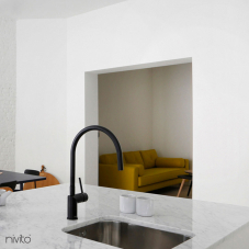 Black Kitchen Mixer Tap - Nivito 4-RH-120