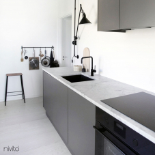 Black Kitchen Mixer Tap - Nivito 5-RH-320