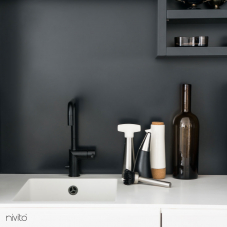 Black Kitchen Mixer Tap - Nivito 7-RH-320
