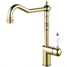 Brass/gold Kitchen Mixer Tap - Nivito CL-160