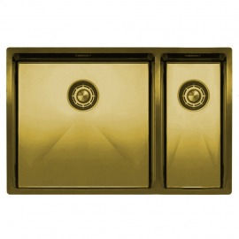 Brass/Gold Kitchen Basin - Nivito CU-500-180-BB