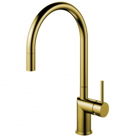 Brass/gold Kitchen Mixer Tap Pullout hose - Nivito RH-140-EX