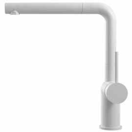 सफ़ेद रसोई नल पुल आउट होस - Nivito RH-630-EX