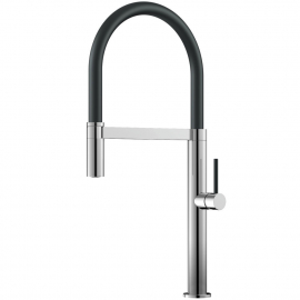 Kitchen Mixer Tap Pullout hose / Polished/Black - Nivito SH-210